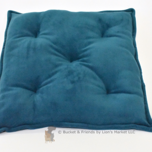 Warm deluxe fleece dog cat pet pillow. Teal.