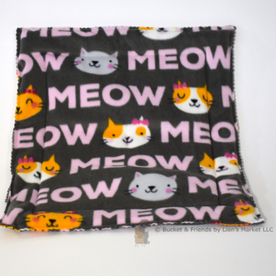 Fleece catnip cat mat bed.