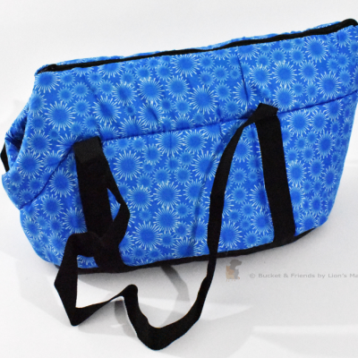 Purse style cat dog carrier. Blue.
