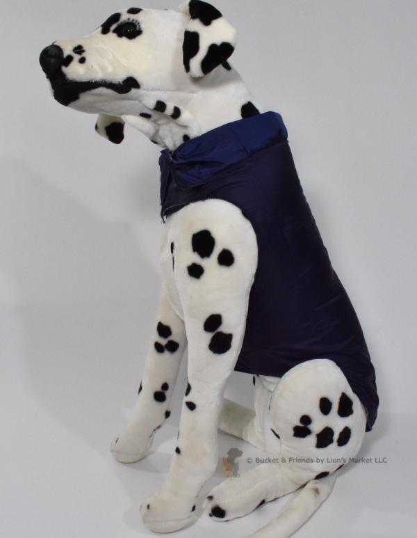 Warm insulated dog coat. Navy Blue. Size large.
