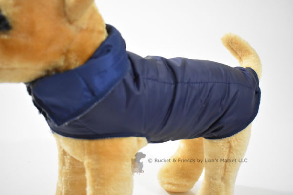 Warm insulated dog coat. Navy Blue. Size extra small.