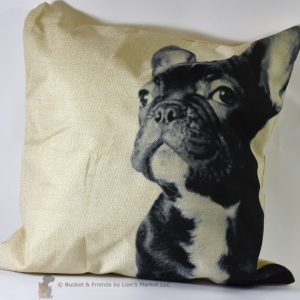 This fun decorative pillow is perfect for frenchie owners!