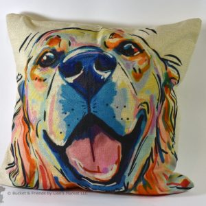 This fun decorative pillow is perfect for Labrador owners!