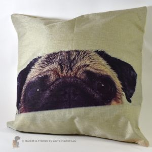 This fun decorative pillow is perfect for pug owners!