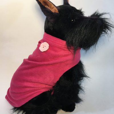 Soft and warm fleece dog coat size medium by bucketandfriends.com