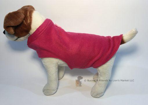 Soft and warm fleece dog coat size small by bucketandfriends.com