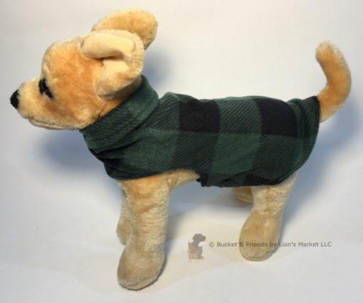 Soft and warm fleece dog coat size extra small by bucketandfriends.com