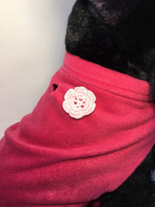 Soft and warm fleece dog coat size medium by bucketandfriends.com