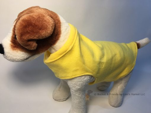Soft and warm fleece dog coat size small by bucketandfriends.com