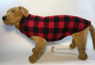 Soft and warm fleece dog coat size extra large by bucketandfriends.com