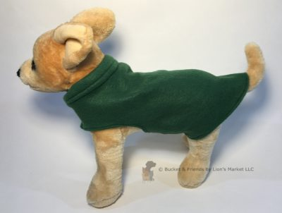 Soft and warm fleece dog coat size extra small by bucketandfriends.com