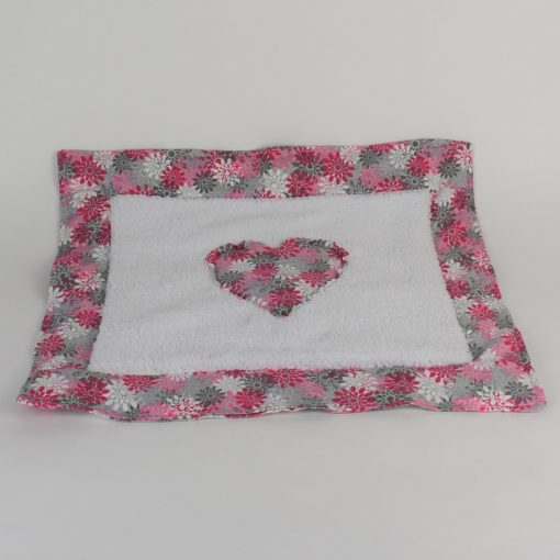 Refillable Catnip Mat pink and gray flowers