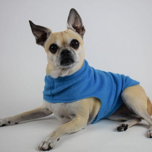 Fleece Dog Coat in Rocket Blue