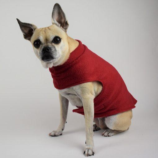 Fleece Coat in Chili Red